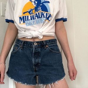 Vtg dark wash gap jean high waist shorts